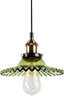 Huahan Haituo Przemysłowy żyrandol w stylu vintage, szkło, szkło, lampa w stylu industrialnym, żyrandol do baru kawowego, ...