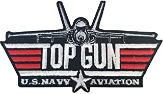 Original Famous Patches & Appliques Usn, Top Gun U.S. Naval Aviation - Embroidered Patches, Premium Quality Iron On Patch...