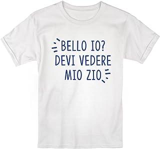 LaMAGLIERIA Baby T-Shirt a Maniche Corte Se Pensi Che io Sia Carino Maglietta Divertente Neonato aspetta di Vedere Mio Zio