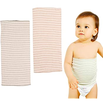 腹巻 子供 寝冷え対策に オーガニックコットン 伸縮性の良い 0~3歳 17*34cm 春 夏 秋 冬 2枚セット