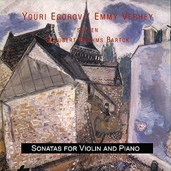 Schubert - Brahms - Bartok: Sonatas for Violin and Piano