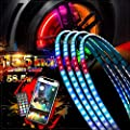 AddSafety Chasing Color 15.5inch Single Row Brightest Strobe Led Wheel Ring Lights Car Tire Lights w/Turn Signal and Braking Functionand Can Controlled by remote and app Simultaneously -4PCS