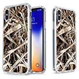 True Color Case for iPhone Xs, iPhone X Camo Case - Clear Shield Real HD Camouflage Printed on Clear Back - Soft and Hard Thin Shock Absorbing Dustproof Protective Bumper Cover