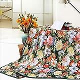 YJJSL La Manta Multiusos de la Flor de la Manta de la Franela florece la Manta para la Manta de la Cubierta de la Siesta del sofá/de la Oficina/del Dormitorio (Size : 180cmX200cm)