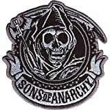 Sons Of Anarchy Men's SOA Circle Embroidered Patch Black