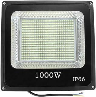 Sister-A 1000W LED Flood Light Super Bright Outdoor Work Light 220V IP66 Waterproof 6500K White Color for Garden Yard Ware...