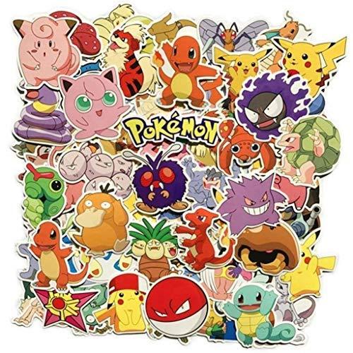 30/60/80 STÜCKE Pokemon Aufkleber Laptop Aufkleber, Motorrad Fahrrad Gepäck Aufkleber Graffiti Patches Für Jugendliche (Pokemon Aufkleber 30/60/80 Pcs)