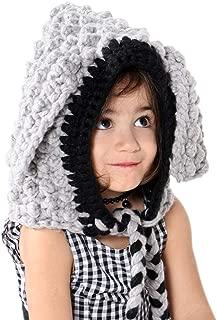 Kids Knit Hat Winter Hat Warm Animal Hat Handmade Crochet Hat Scarf Cute Animal Ear Beanies Hat for Girls Boys