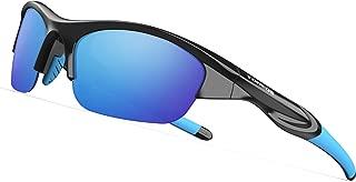 TOREGE Tr90 Flexible Kids Sports Sunglasses Polarized Glasses for Junior Boys Girls Age 3-10 TR041