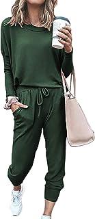 Tuta da donna invernale 2 pezzi Flying Rabbit maglia a maniche lunghe e pantaloncini con coulisse e cappuccio con tasche