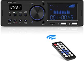 comprar comparacion Autoradio Bluetooth Coche RDS Estéreo ieGeek, 60W X 4 Soporta FM/AM/AUX/FLAC/MP3/WMA/WAV, con Control Remoto, Reloj de vis...