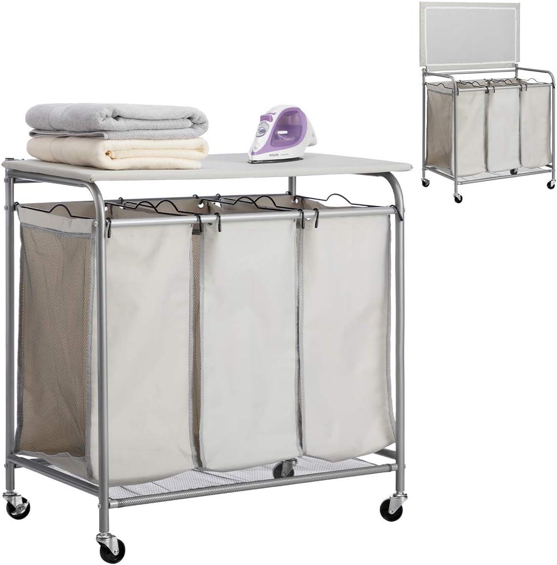 PARANTA Laundry Sorter Cart with Ranking TOP2 Foldable Ironing Board 2021 new Tra