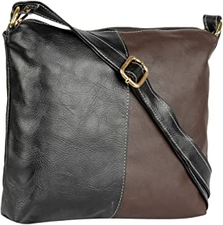 THE RUNNER PU LEATHER DUAL COLOUR SLING BAG FOR GIRLS