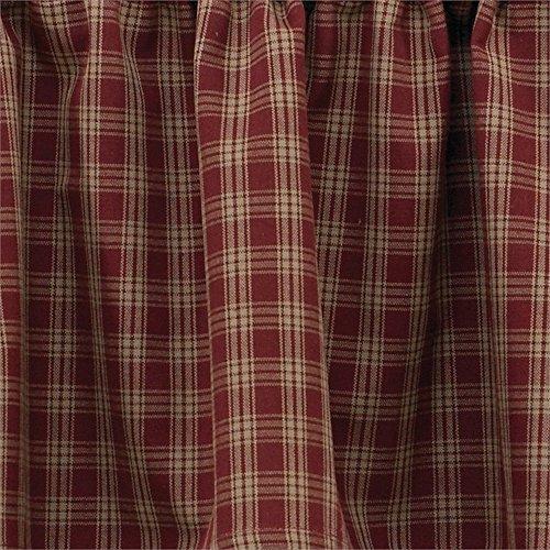 Park Designs Sturbridge Rod Pocket Curtain Pair 72W x 84L, Wine