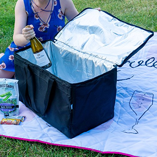 """Commercial Insulated Food Delivery Bag   Extra Large Cooler Bag for Food Transport   Keep Multiple Pans of Food Hot or Cold   23"""" Long x 13"""" Wide x 15"""" Deep"""