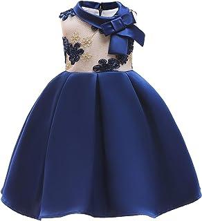 Vestido de princesa de las niñas Vestido para niños Vestido para niñas Vestido de niña de flores Falda Vestido tridimensio...