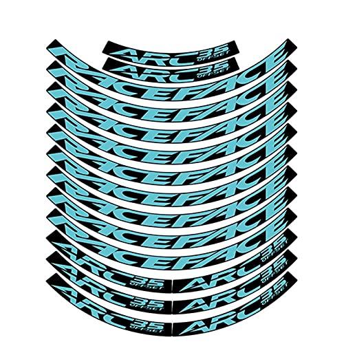 HGDQ Pegatinas de la Rueda de Bicicleta ARC35 MTB Pegatinas de llanta Sistema de Ruedas de Bicicleta Decal Rim Calcomanía Accesorios de Bicicleta 27.5 Pulgadas (Color : 27.5er Turquoise)
