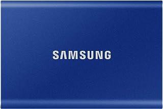 Samsung T7 1TB 最大転送速度1,050MB/秒 USB3.2 Gen2(10Gbps, Type-C) 外付けSSD (ポータブルSSD) ブルー PS4/PS5動作確認済み MU-PC1T0H/EC 国内正規保証品