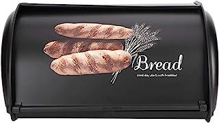 Boîte de rangement de pain, organisateur de stockage de cuisine de conteneur de bac de boîte à pain d'acier inoxydable de ...
