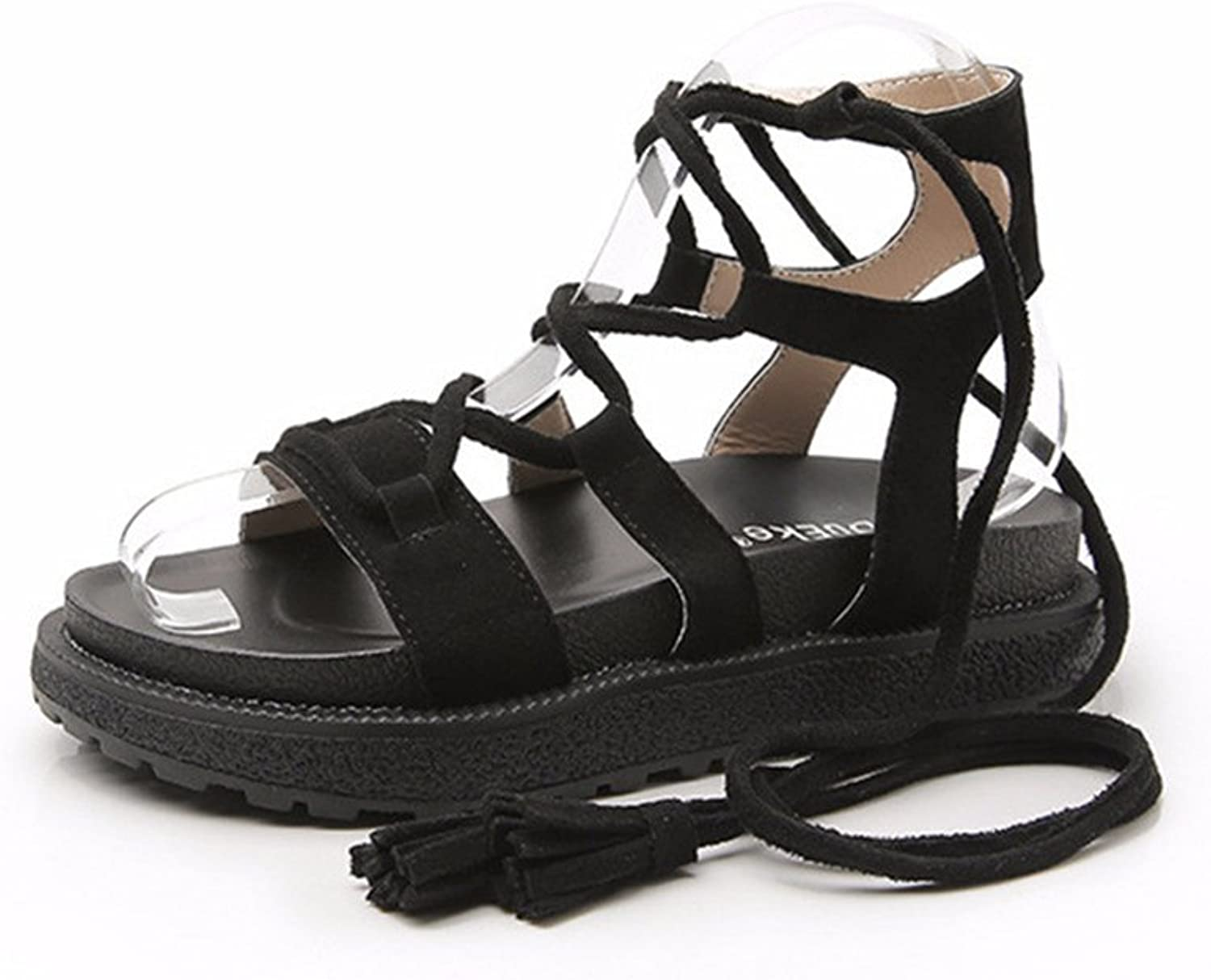 F1rst Rate Women's Summer Fashion Peep-Toe Lace-Up Platform Sandals Beach shoes