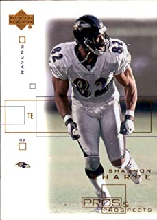 Football NFL 2001 Upper Deck Pros and Prospects #7 Shannon Sharpe #7 NM Near Mint Ravens