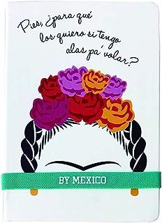 """By Mexico, Libreta Rayada modelo Magdalena""""la Floreada"""" 80 hojas"""