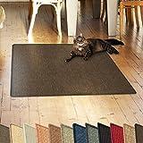 casa pura Sisalteppich Natural Line | ideal als Kratzmatte für Katzen | schadstofffrei & widerstandsfähig | Sisal Kratzteppich in vielen Farben und Größen (Dunkelbraun, 60x80 cm)