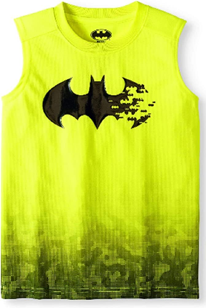 DC Comics Boys Batman Muscle Tank T-Shirt (XXL 18, Yellow)