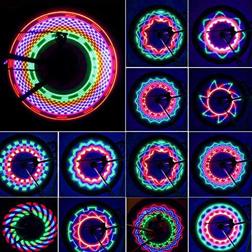 Aspiree Fahrradräder beleuchten wasserdichte Fahrradfelgenlichter/Speichenlichter,Fahrradausrüstung Silikon Mountain Wheel Lichter