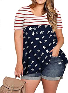 plus size fourth of july tank tops