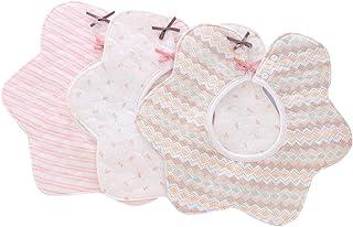 comprar comparacion Bebé baberos,3pcs Baberos Grande Absorbente y Suave de Algodón Orgánico para niños 1-3 Años,Baberos de diseño rotacional