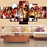 AYogg 5 Impresiones de Lienzo Modern Wall Art Home Decor 5 Panel Monkey Poster One Set Anime One Piece Painting Mejor impresión de Lienzo