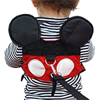 Toddler Anti-Lost Belt with Safety Leash Mini Strap for Boys and Girls (Red)