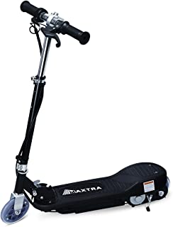 BenefitForU Folding Electric Scooter for Kids, Adjustable Handlebar for Kids or Teens, 160LBS Max Weight Capacity Motorized Scooters -Black