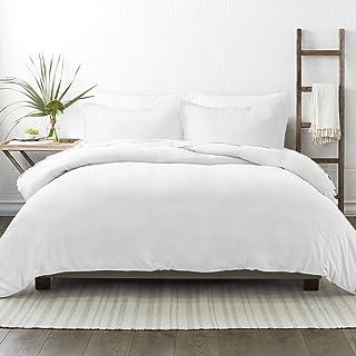 NIERBO Housse de Couette 220x240 avec 2 Taies d'oreiller 65x65cm Blanc 120g/㎡ Plus Epais 3 Pièce Parure de Lit Adulte en M...