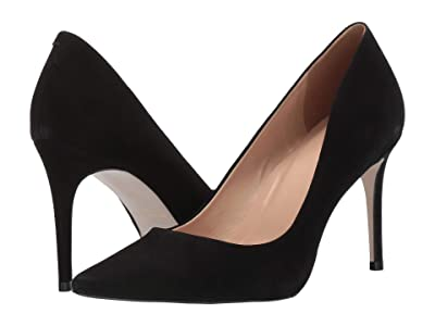 Massimo Matteo 90 mm Pointy Toe Pump (Black Nubuck) Women