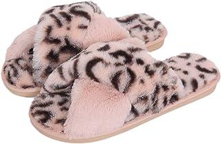 Fadezar Zapatillas Casa Mujer Invierno Antideslizantes Cálido Mullido Pantuflas Flip Flop Mujer
