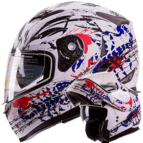 IV2 'Blood Scorpion' Modular Dual Visor Motorcycle / Snowmobile Helmet DOT Approved IV2 Model #953...