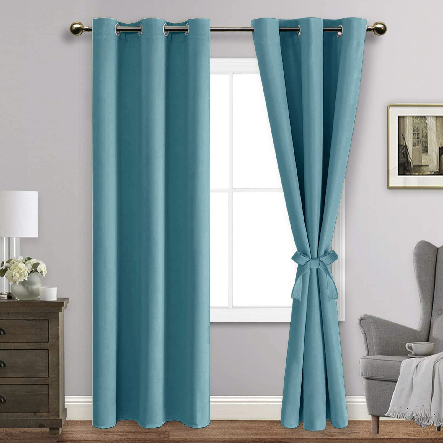 ROSETTE Blackout Curtains with Financial sales sale Dallas Mall Tiebacks Thermal Lig - Insulated
