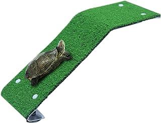 FuliLie 亀 水槽 浮島 陸地 飼育 カメ 両生類 爬虫類 人工芝 水槽レイアウト オブジェ (s)