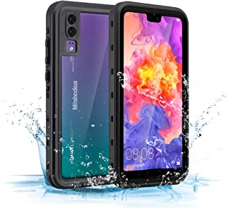 Mishcdea Huawei P20 Waterproof Case Shockproof Snow-Proof Dirt-Proof Full Body Phone Protector Cover for Huawei P20 (2018) (Black)