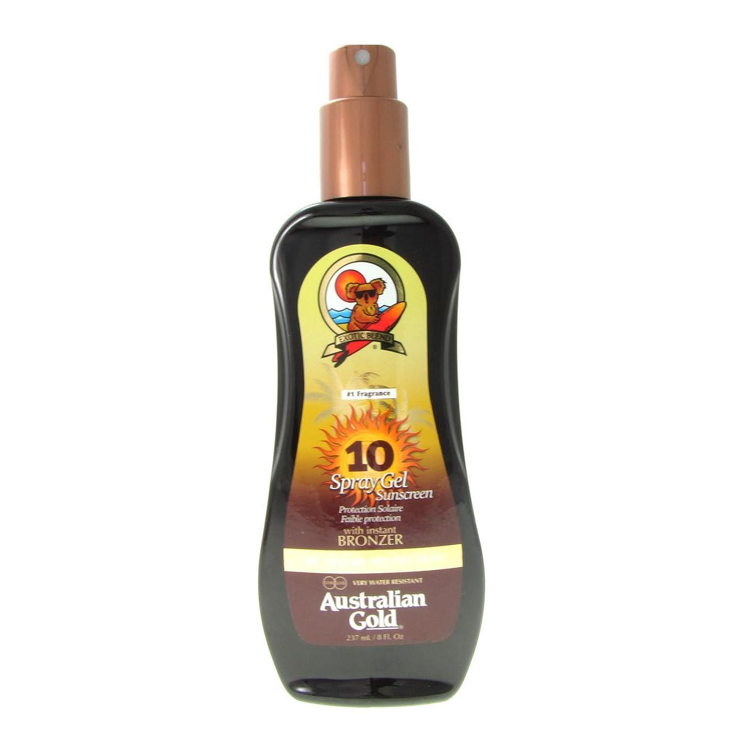 浸食亜熱帯ディレクトリAustralian Gold Spray Gel Spf10 Instant Bronzer 237ml [並行輸入品]