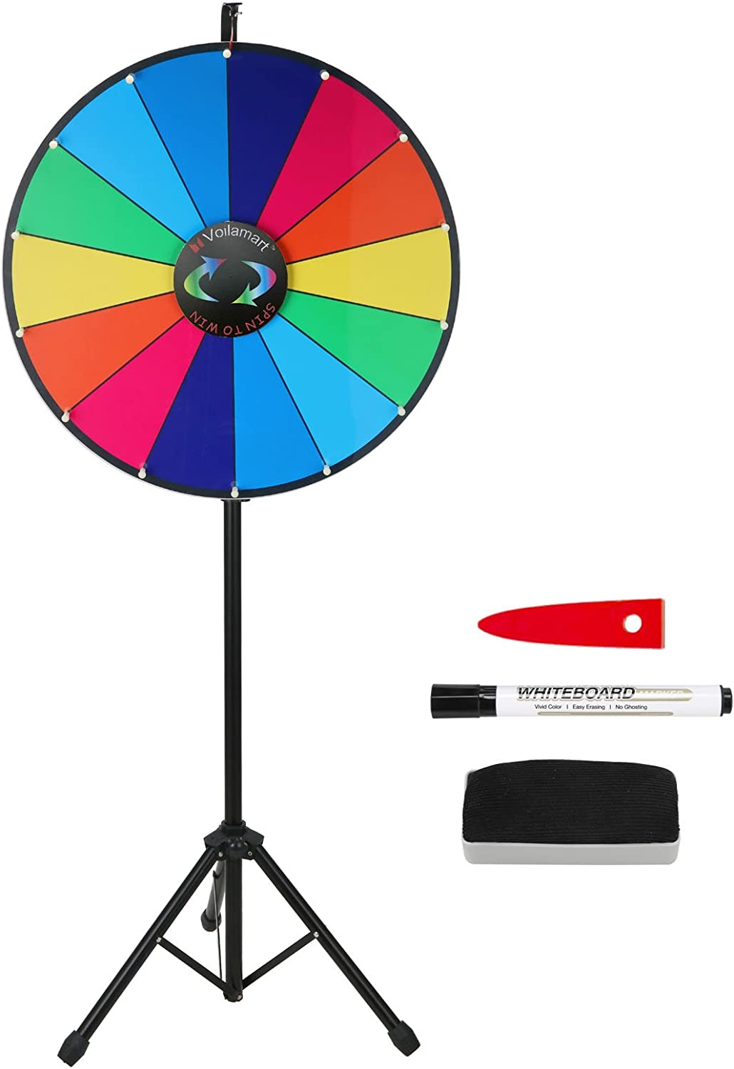 Voilamrt 24 Inch Prize Wheel with Stand Floor Tripod Folding Reservation Hei Special Campaign