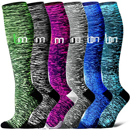 Compression Socks for Women and Men - Best Medical,for Running, Athletic, Varicose Veins, Travel. (Assorted9, Small/Medium)