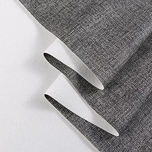 MUYUNXI Polipiel Cuero Artificial De Cuero para Tapizar Sofá Polipiel Silla Manualidades Cojines 138 Cm De Ancho Vendido por Metro(Color:Gris)