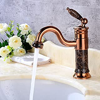 Accesorios de baño Grifos de lavabo Lalaky Grifos Para Fregadero Grifo Cocina Mezclador Grifo Baño Mezclador Monomando Grifo De Cuenca Griferia Lavabo Y Baño Facil De Limpiar Cobre Antiguo Bronce Cobre Retro Cobre Retro