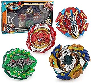 4 pieces bey battle gyro burst Beyblade evolution attack set for battling top game metal (4D ROTARY) top superpower battle...