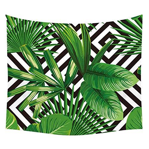 KHKJ Tapiz de Pared de Tela con patrón de Planta Tropical, Tapiz artístico de Mandala con Hoja, Manta, Toalla de Playa, Tapiz de Pared de Yoga, A5 150x130cm