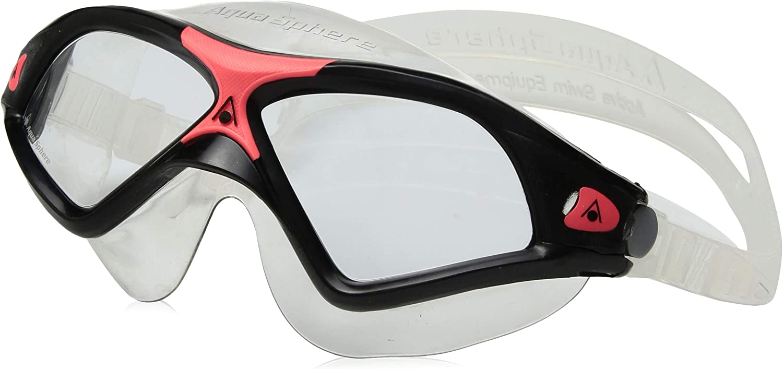 Aqua Sphere Swim Mask Aqua Sphere Seal XP Swim Mask, Black Coral - Clear Lens 138020-1, Black Coral - Clear Lens, Adult