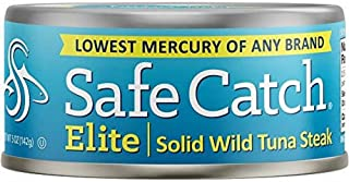 Safe Catch Elite Lowest Mercury Solid Wild Tuna Steak, 5 Ounce Can The Only Brand To Test..